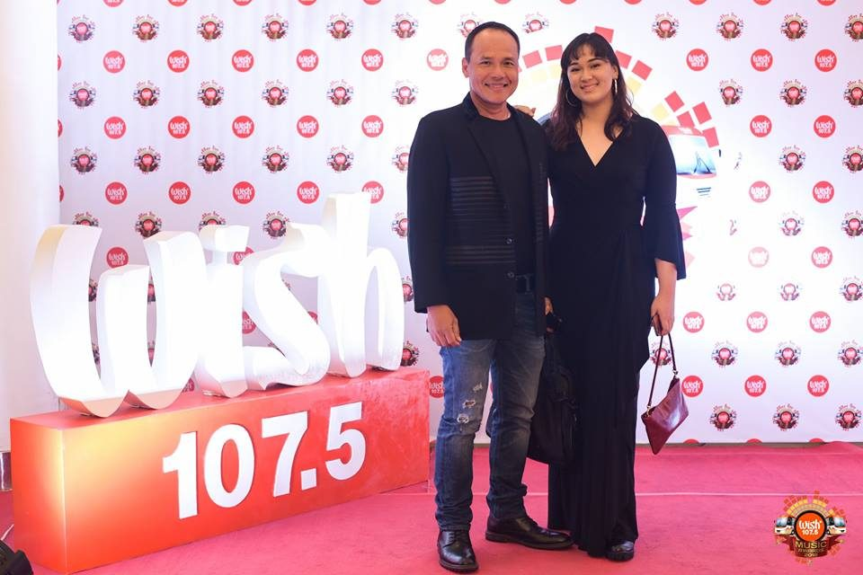 Acclaimed balladeer Chad Borja and daughter Gabrielle Gross on the 3rd WMA red carpet