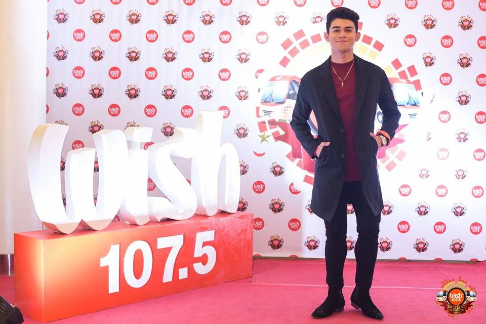 Breakout singer-songwriter Inigo Pascual on the 3rd WMA red carpet