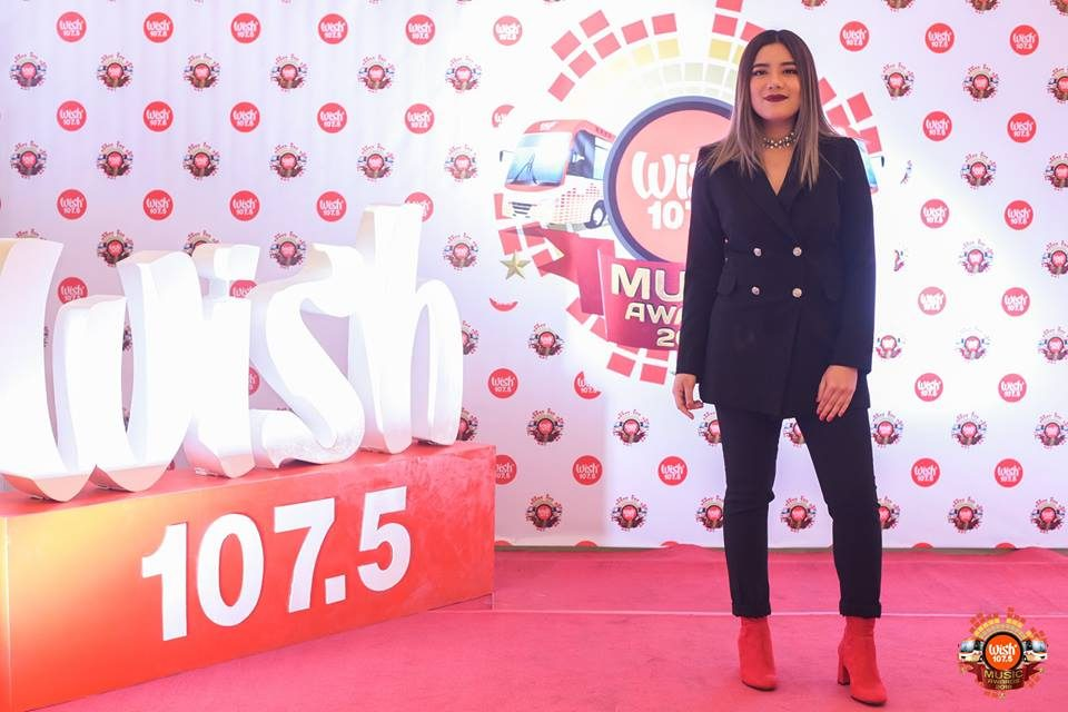 Singer-songwriter Keiko Necesario on the 3rd WMA red carpet