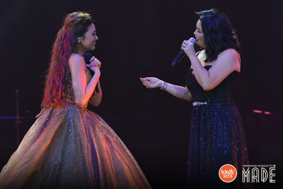 "Having an enormous singing talent did not stop Morissette to fan-girl over Regine Velasquez-Alcasid, as the two shared the stage in a historic duet of the Songbird's hit 'You Are My Song.' That night, Regine declared the singer a queen and that ""another superstar was made."""