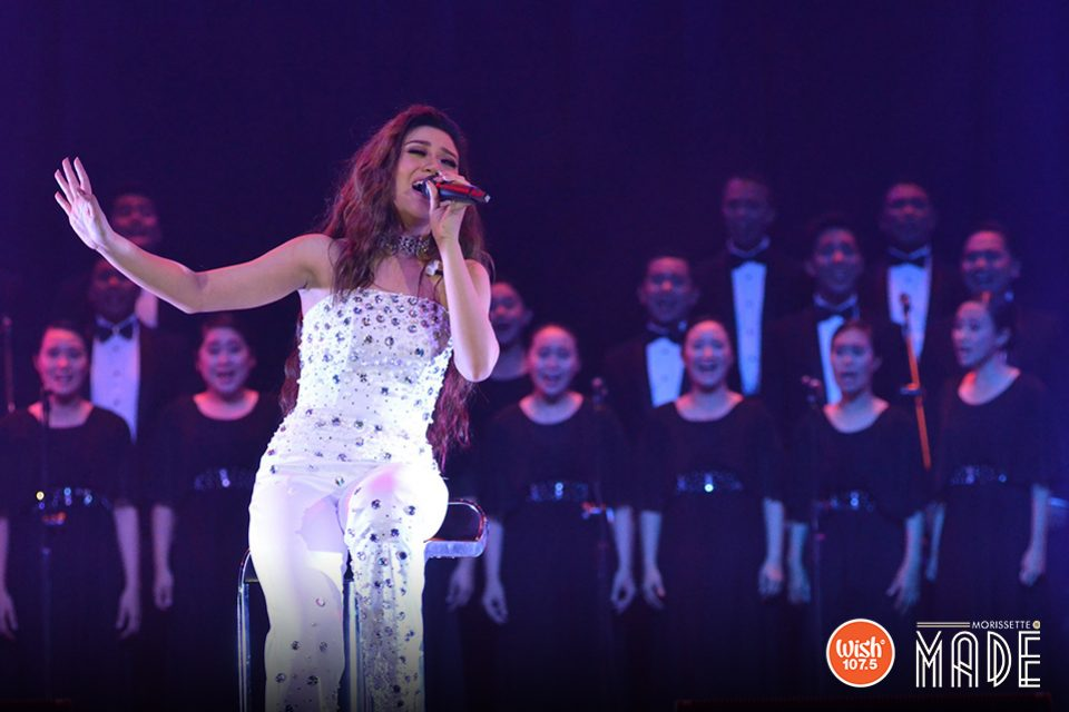 The Wish Chorale harmonizes with Morissette in an inspiring arrangement of the songs 'The Color Purple' and 'Rise Up.'