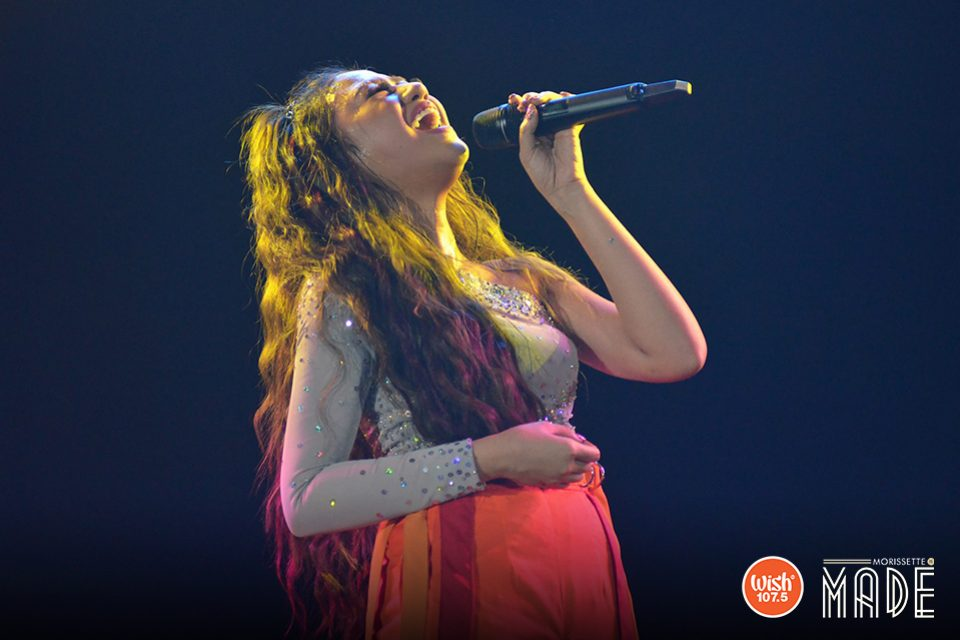 Giving it all out. Morissette Amon doesn't shy from giving it all she's got, much to the delight and amazement of her fans.