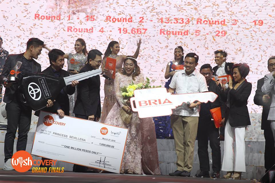 Wishful Princess Sevillena receives a brand new car, a house and lot and one million pesos after bagging the Grand Champion award at Wish 107.5's Wishcovery Grand Finals. Wishcovery Reactors join BMPI-UNTV executives to present the winner her grand prizes. #WishcoveryGrandFinals