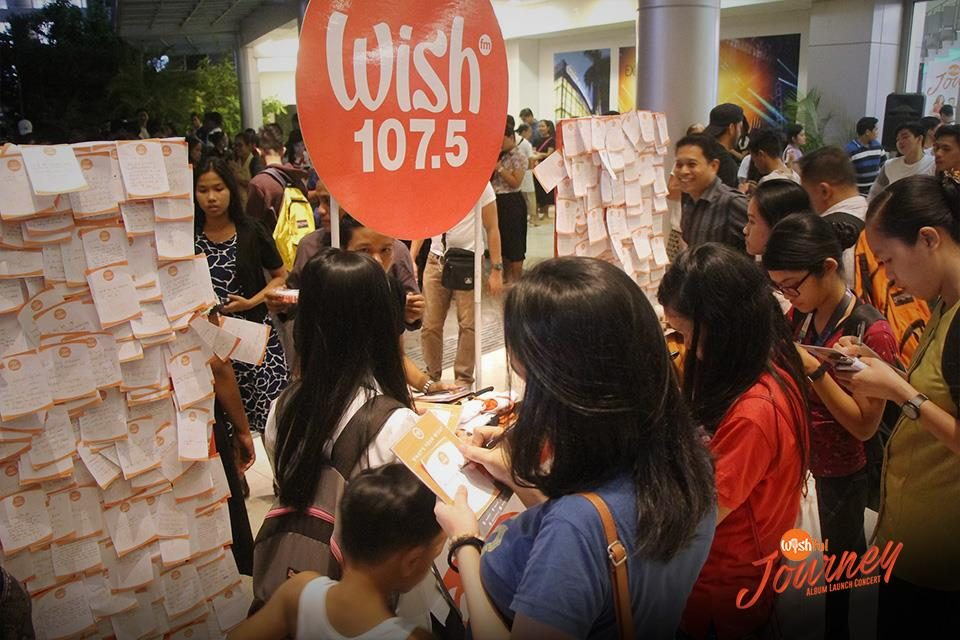 "WISHERS KEEP ON WISHING. Hours before the ""Wishful Journey"" Album Launch Concert kicked off, fans and supporters of the Wishful 5 dropped by our Wishing Walls to share their simple dreams in hopes of them being granted.  The Wishing Walls are a staple in every Wish 107.5-hosted event."