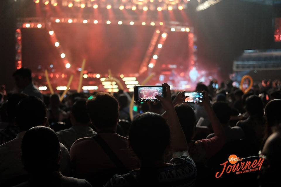 The audience had their devices ready as they awaited the live performances in the Wishful Journey Album Launch Concert at the Big Dome.