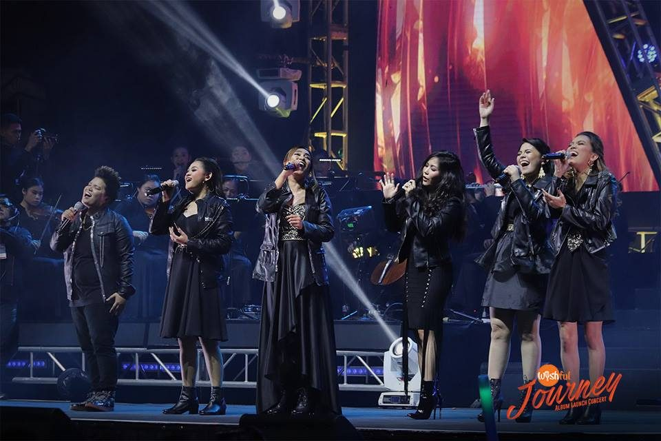 "The Wishful 5 sang alongside Pop-Rock Royalty Yeng Constantino in a medley of her songs, ""Hawak Kamay"" and ""Salamat"" during the Wishful Journey Album Launch Concert."
