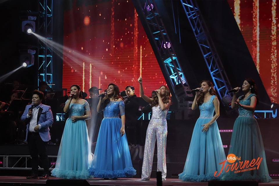 "Alongside Asia's Phoenix, Morissette Amon, the Wishful 5 sang Andra Day's inspirational song ""Rise Up"" during their album launch concert at the Big Dome."