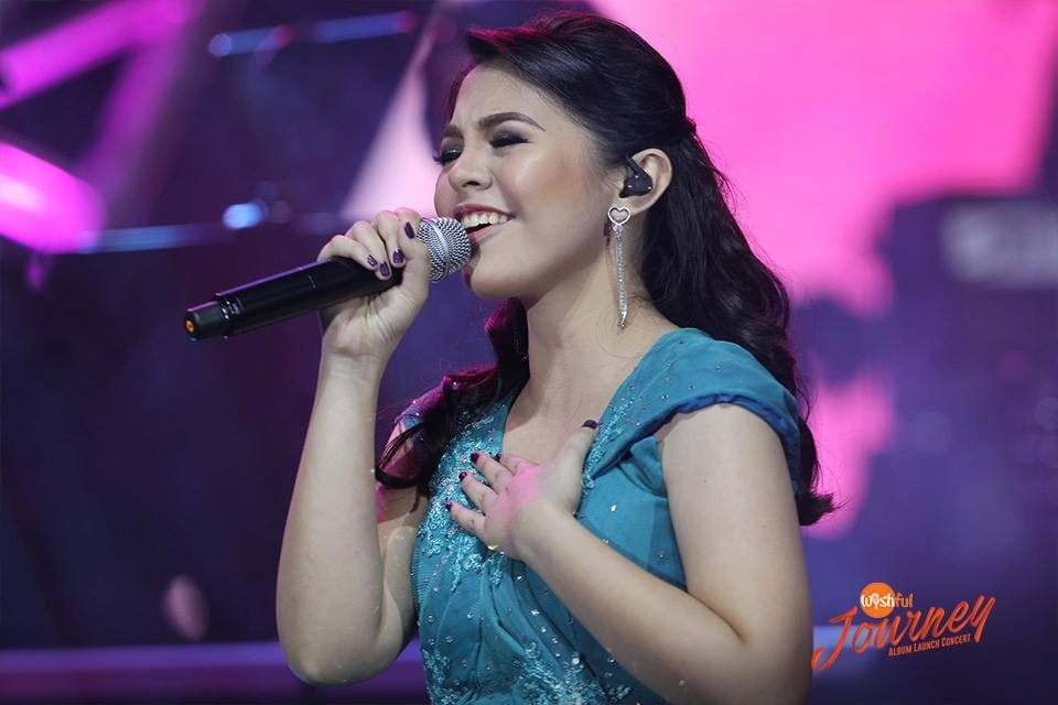 "Wishful Kimberly Baluzo took center stage as she belted out Diana Ross' ""When You Tell Me That You Love Me"" during the Wishful Journey Album Launch Concert."