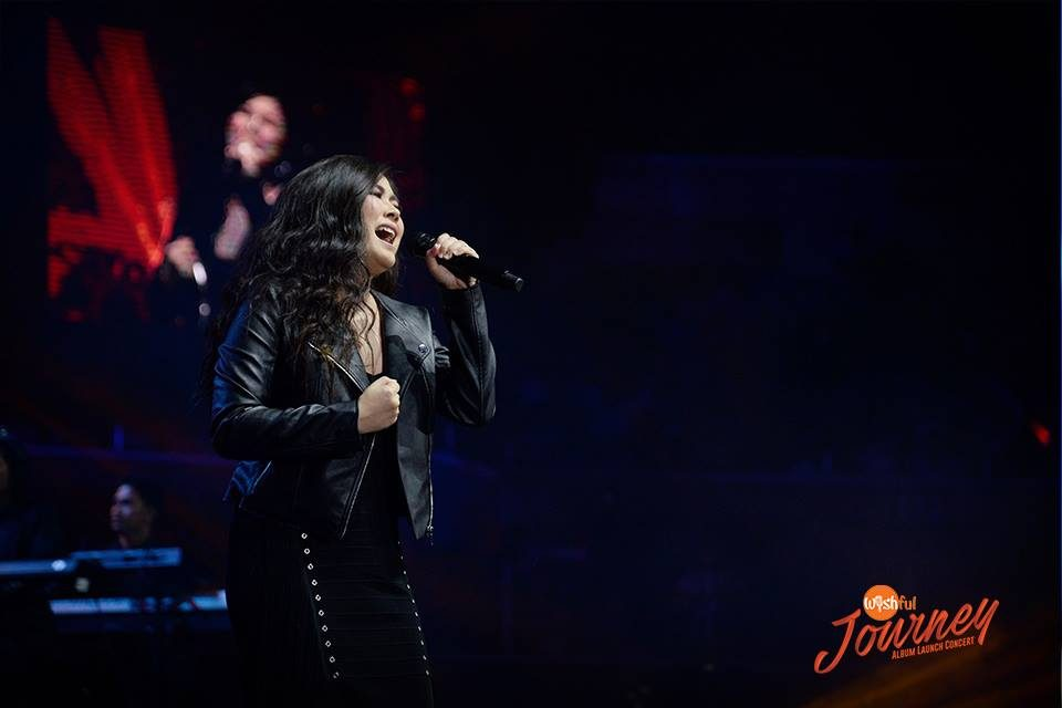 "Yeng Constantino delivered a powerful performance of her latest offering ""Ako Muna,"" during the Wishful Journey Album Launch Concert at the Big Dome."