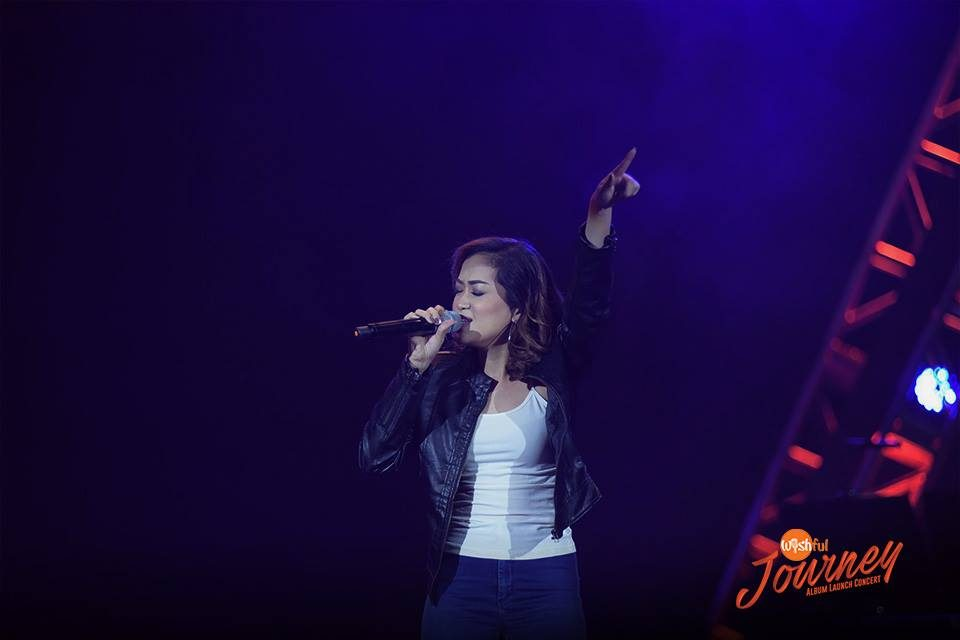"On-stage at the Wishful Journey Album Launch Concert was rising belter Mela as she sings Paramore's ""Still Into You"" at the Big Dome."