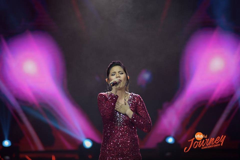 "Camarines Norte's singing gem Kimberly Baluzo hit a soft spot with her touching rendition of the OPM favorite, ""Iingatan Ka"" during the Wishful Journey Album Launch Concert held at the Big Dome."