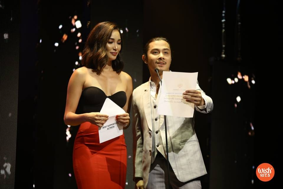 "The beautiful tandem of Bea Rose Santiago and JC Santos announces #TheEddys2018 ""Best Supporting Actress"" awardee."