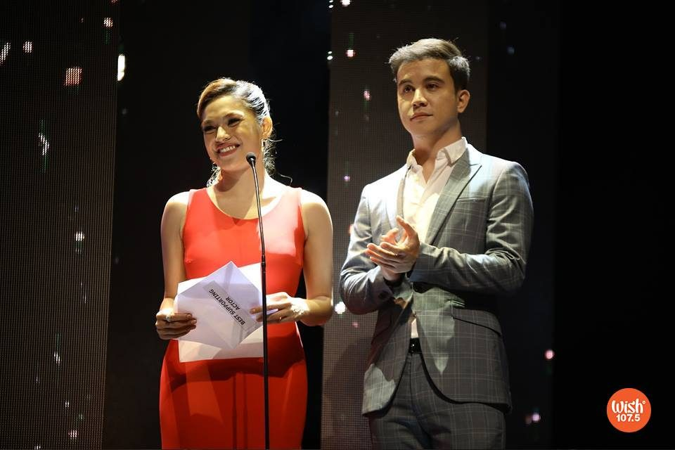 "Promising talents Andrea Torres and Arjo Atayde serve as the ""Best Supporting Actor"" presenters for #TheEddys2018."