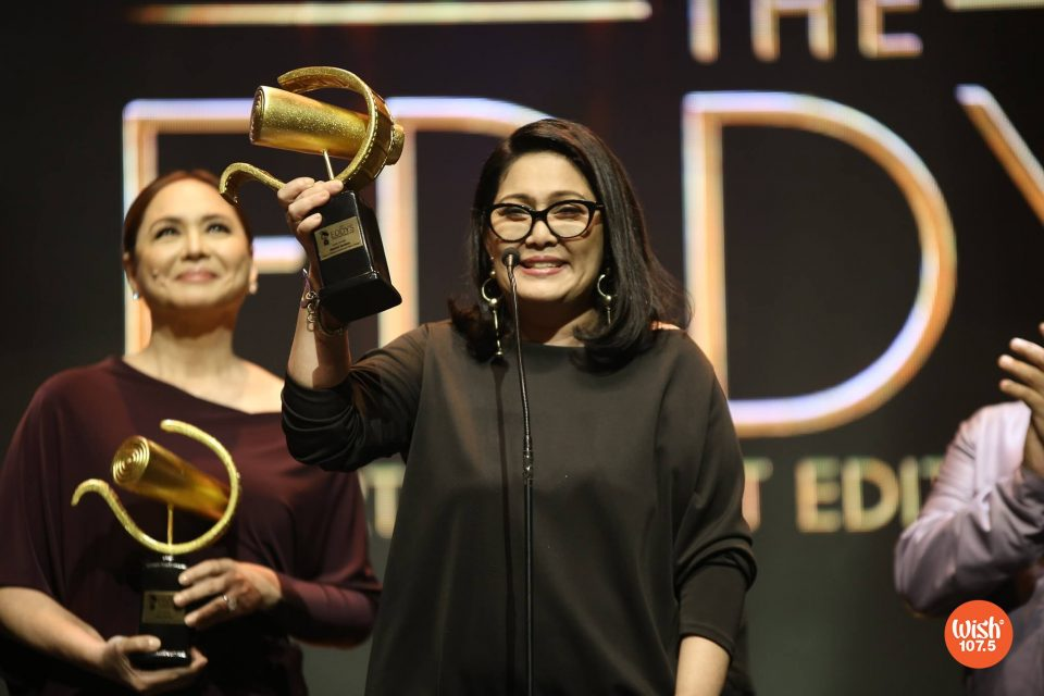 Diamond Star Maricel Soriano gives a heartwarming speech as she receives the Film Icon award at #TheEddys2018. The highlight of her message is an emotional tribute to her hero, the late King of Comedy Dolphy.