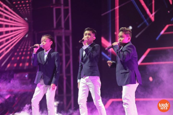 """Breakout trio The TNT Boys display their vocal prowess with a nostalgia-inducing performance of the High School Musical theme song, """"Breaking Free."""""""