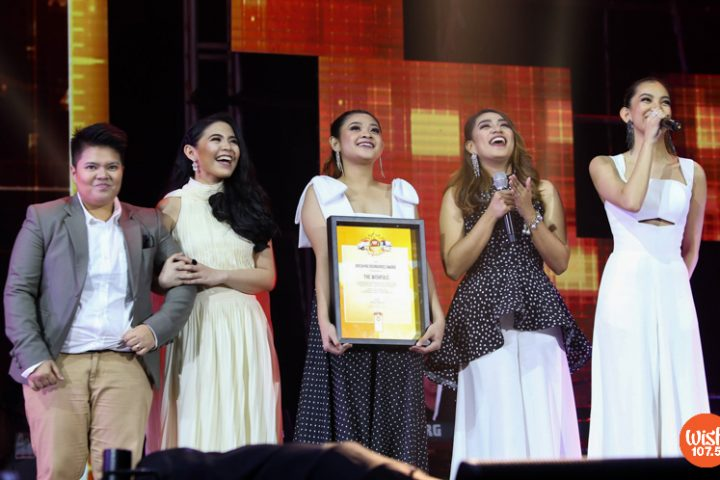 """The Wishfuls receive the Breaking Boundaries award for their groundbreaking milestone of selling over 15,000 units for the debut album """"Wishful Journey,"""" only a day after its release."""